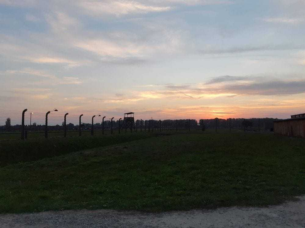 sunset in Birkenau